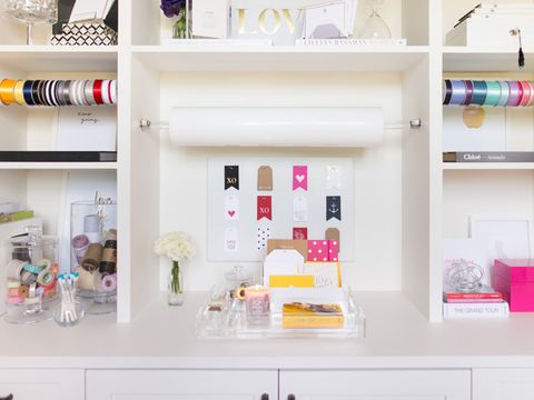 1 Pick Storage Solutions That Keep Your Work Area Clear The Built In Shelves And Cabinets This Room Offered A Ready Made Solution For Keeping Supplies