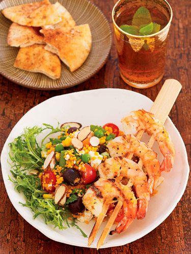 Couscous Salad With Grilled Shrimp