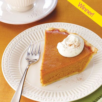apple butter pumpkin pie with whipped cream