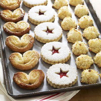 palmiers linzer cookies coconut macaroons