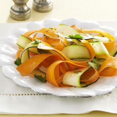 carrot and zucchini ribbons