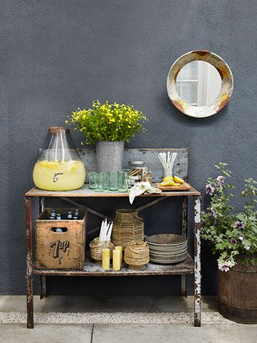 Yellow, Flowerpot, Interior design, Still life photography, Serveware, Mirror, Still life, Vase, Houseplant, Artifact,