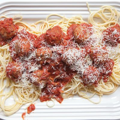 pasta with meatballs and sauce