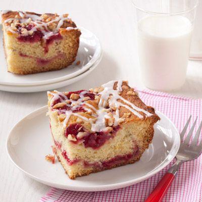 spiced cranberry coffee cake