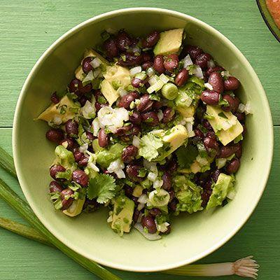 black bean and avocado salsa