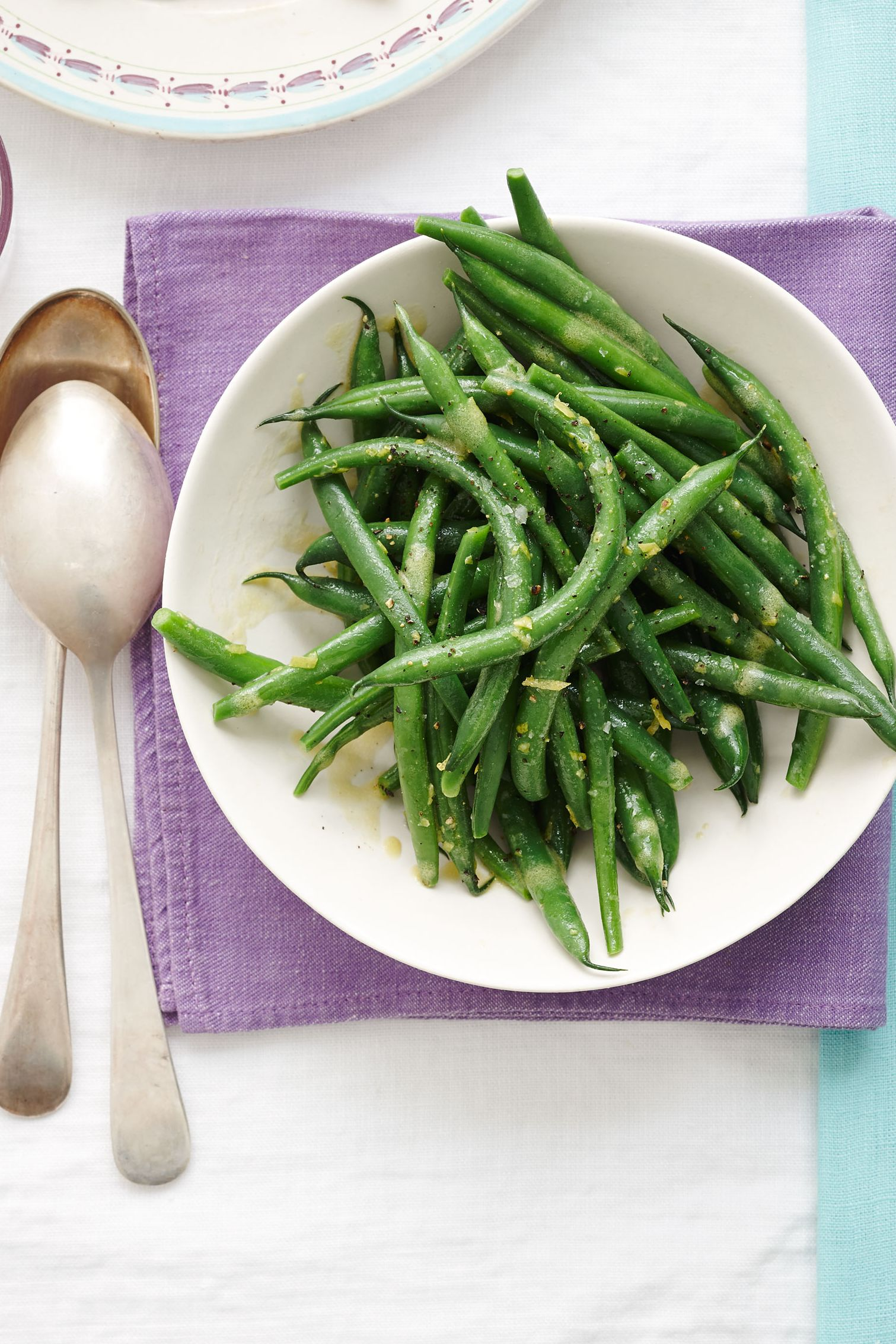green beans with lemon vinaigrette