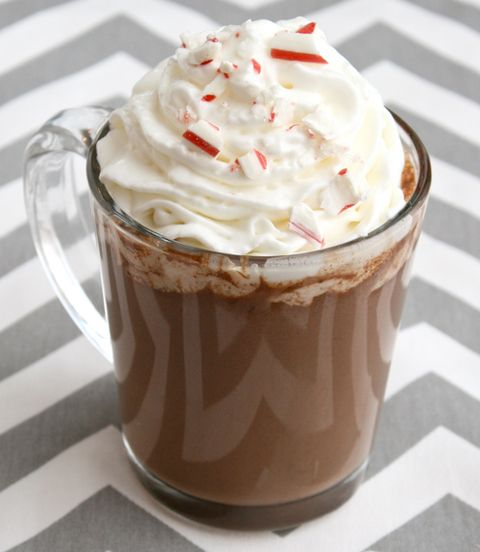 slow cooker peppermint bark hot chocolate