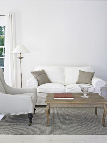 basic white living room