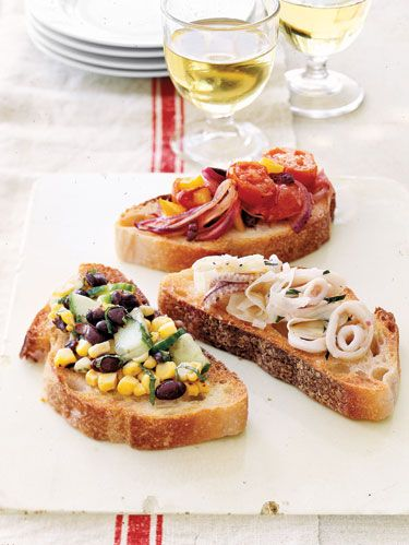 bruschetta with toppings