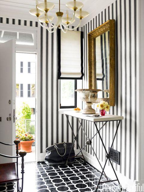 striped entryway