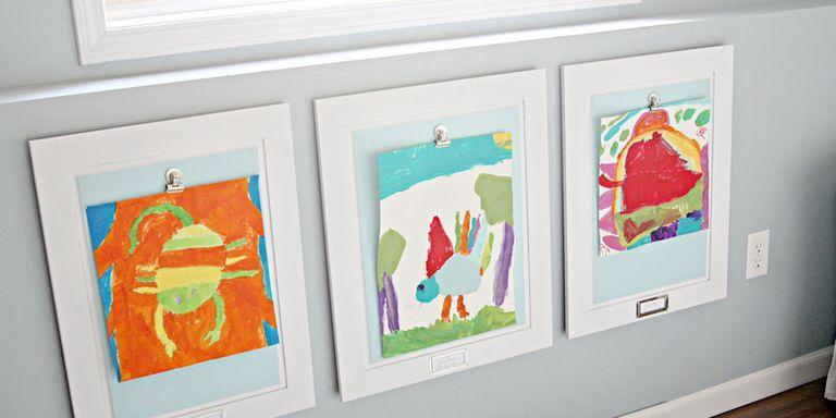 jennifer jones diy art frames - Kids Art Frame