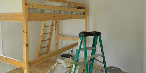 Wood, Room, Ladder, Wall, Hardwood, Plywood, Wood stain, Bunk bed, Dormitory, Lumber,