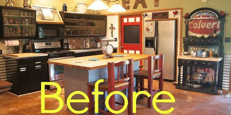 before and after: rustic kitchen makeover - house makeover ideas Kitchen Makeover Ideas