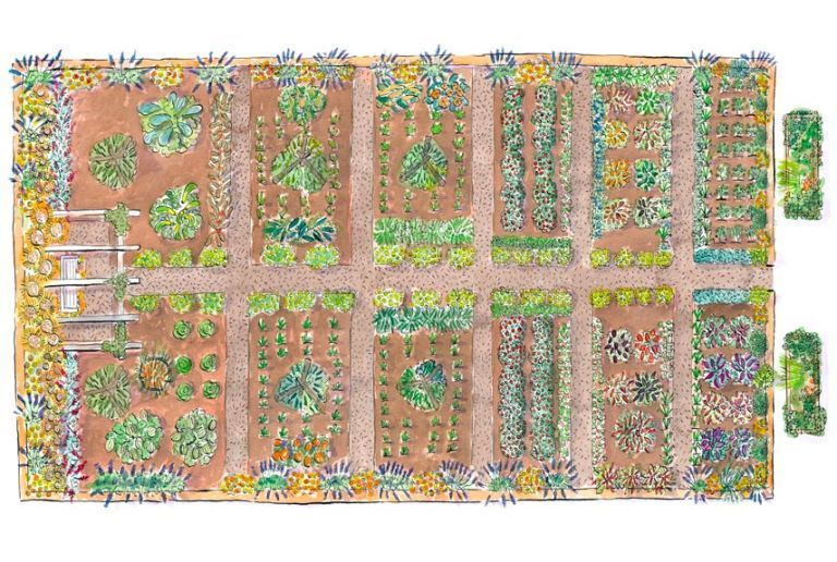 Lovely Free Kitchen Garden Plans