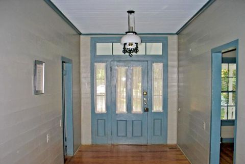blue interior front door