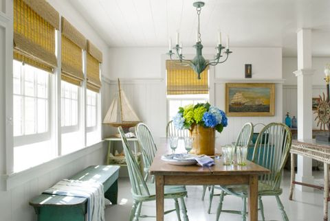 Formal Dining Table Setting Ideas, Coastal Decorating Ideas Beach Cottage Design