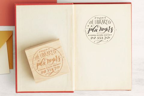 custom bookplate stamp