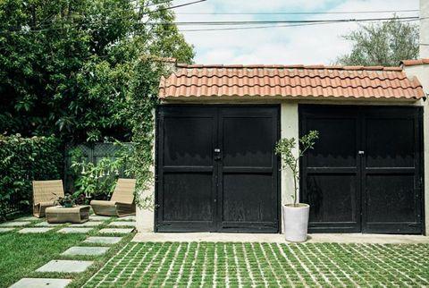 grass driveway