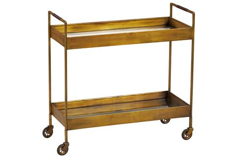 crate and barrel bar cart