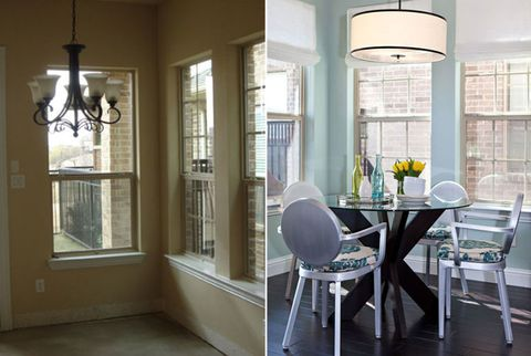 before and after dining room makeovers