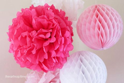 Courtesy Of I Heart Nap Time Tissue Paper Flowers