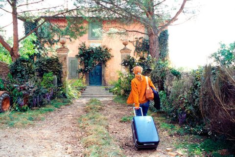 Travel, Rural area, Shrub, Door, Baggage, Garden, Arch, Yard, Suitcase, Village,