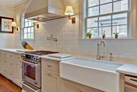 Porch Subway Tile Backsplash