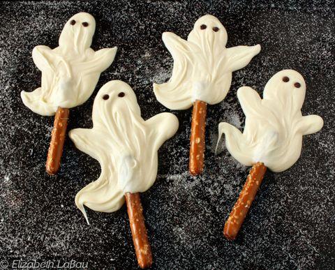 white chocolate ghosts