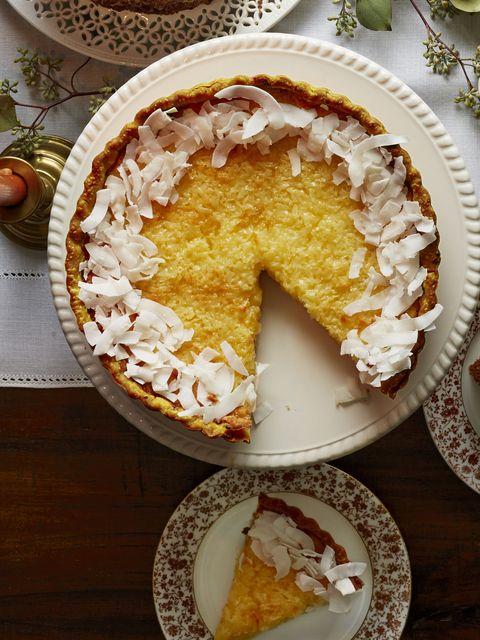 lemon coconut tart