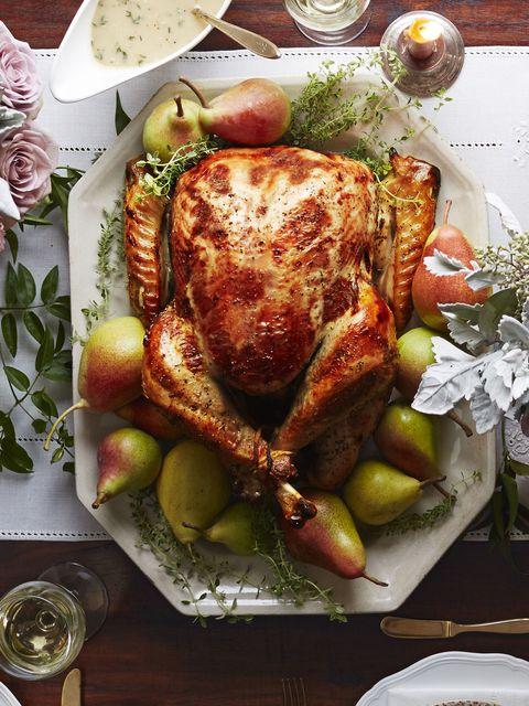 pear-thyme brined turkey