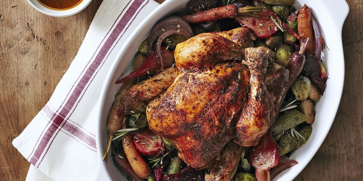Herbed Chicken With Beets Amp Brussels Recipe