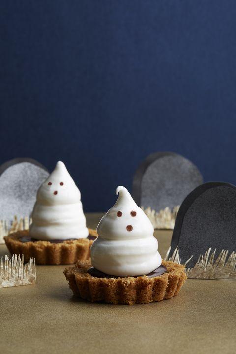 meringue ghost tartlets