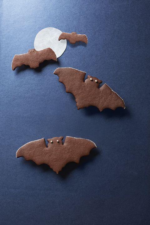 spiced chocolate bat cookies