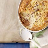 mashed potato souffle with cheese and bacon