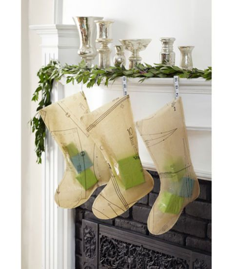 pattern paper christmas stockings