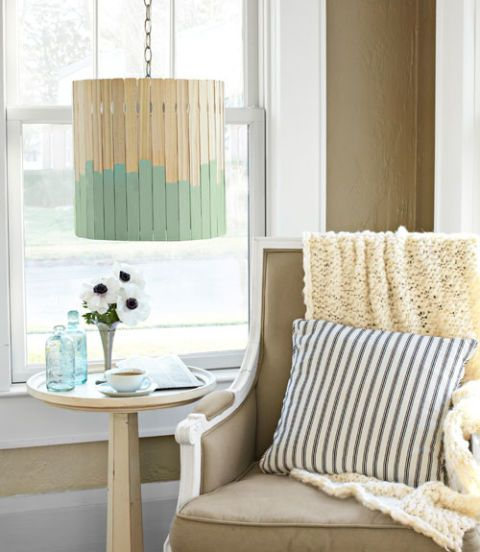 paint stick lampshade