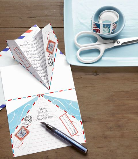 paper airplane letters