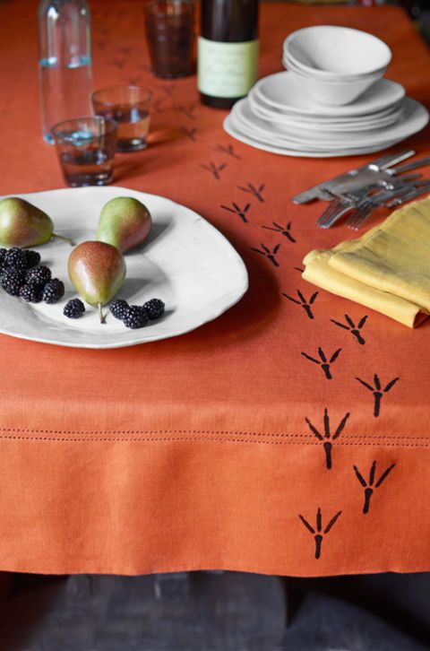 diy halloween tablecloth