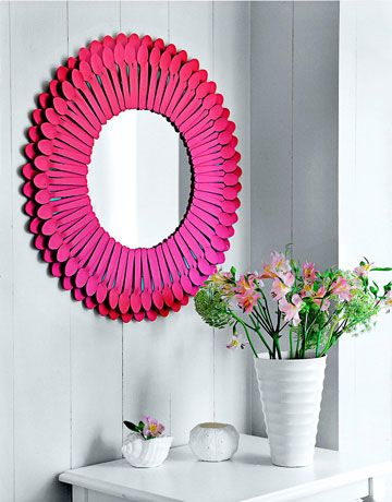 Mirror Crafts - How To Decorate a Mirror