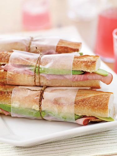ham and avocado sandwiches