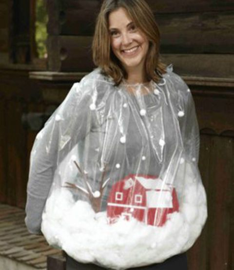 diy trash bag snow globe halloween costume