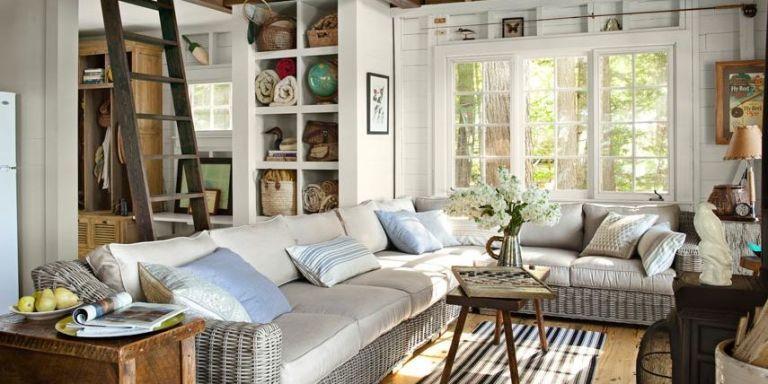 lake house family room & Lake House Decorating Ideas - New Hampshire Cabin Decorating