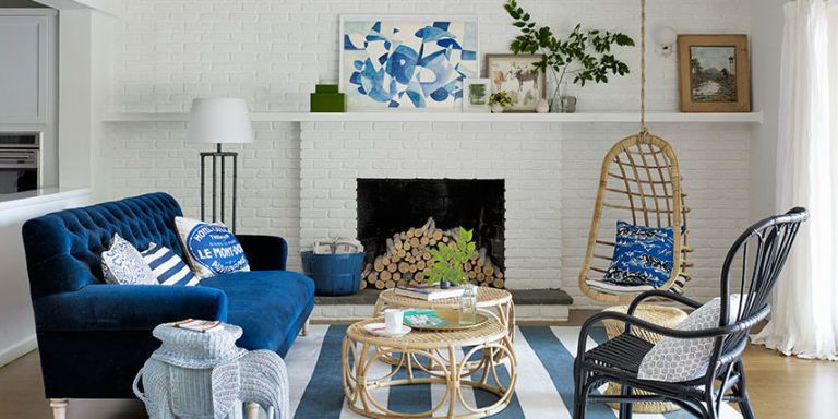 25 best blue rooms decorating ideas for blue walls and home decor rh countryliving com
