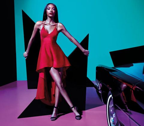 Dress, Formal wear, Pink, High heels, One-piece garment, Magenta, Alloy wheel, Fashion model, Day dress, Waist,