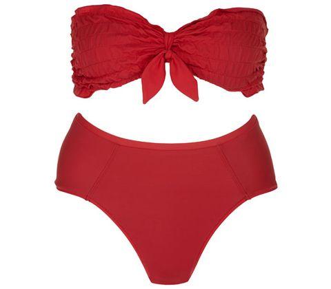 Red, Pattern, Undergarment, Lingerie, Costume accessory, Carmine, Briefs, Brassiere, Swimwear, Maroon,