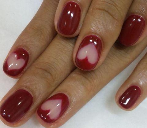 Finger, Brown, Skin, Red, Nail care, Nail, Nail polish, Magenta, White, Purple,
