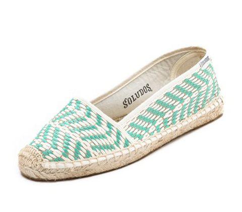 Footwear, Product, Green, White, Teal, Aqua, Tan, Pattern, Turquoise, Beige,