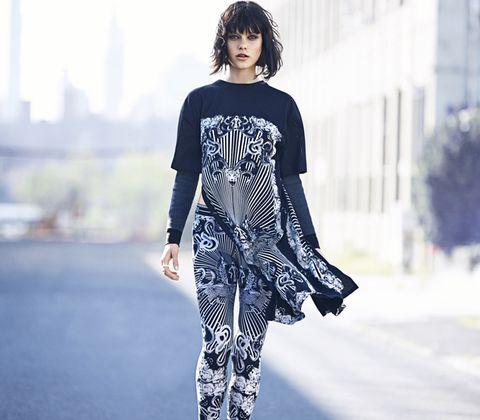 Sleeve, Style, Street fashion, Fashion, Pattern, Black hair, Fashion model, Waist, Visual arts, Fashion design,