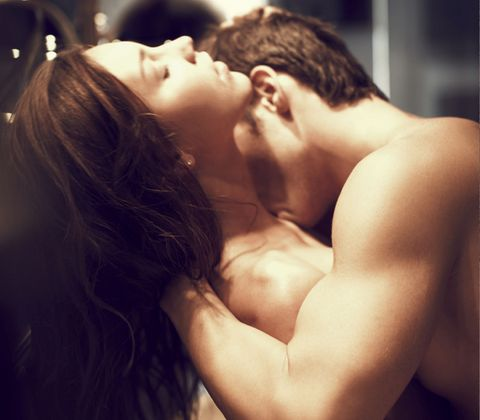 Lip, Shoulder, Romance, Interaction, Kiss, Love, Back, Neck, Black hair, Muscle,