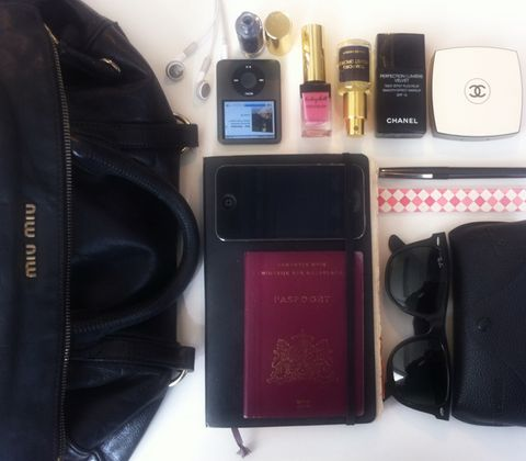 Liquid, Purple, Bag, Cosmetics, Tints and shades, Lavender, Leather, Material property, Everyday carry, Communication Device,